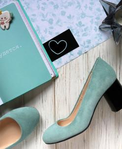Замшевые туфли на удобном каблучке. New Collection 18