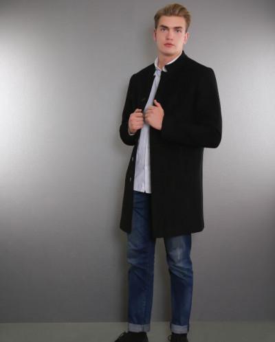 Пальто мужское демисезонное 1681-000 (черн.)