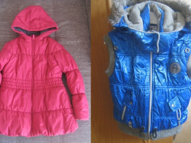 Куртка весна-осень и утепленный жилет р.116-122
