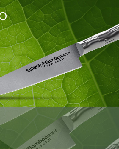 """Нож кухонный """"Samura Bamboo"""" универсальный 125мм, AUS-8"""