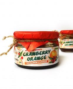 Мягкая карамель Апельсин+клюква 250гр Cranberry orange