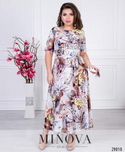 Платье №18-22-Серо-Розовый