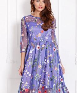 Платье Изольда сирень (П-140-15)
