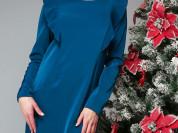 Платье прямого силуэта с длинным рукавом