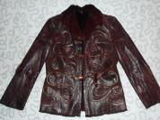 Куртка кожаная, на меху, 46 размер