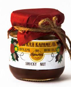 Мягкая карамель какао+фундук 110гр «SHOCKY NUT»
