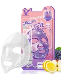 [Elizavecca] Тканевая маска д/лица Фруктовая FRUITS DEEP POW