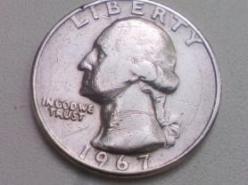25 Центов 1967 год США