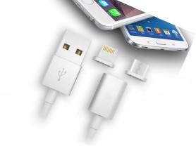 Магнитный кабель для зарядки iOS и Android