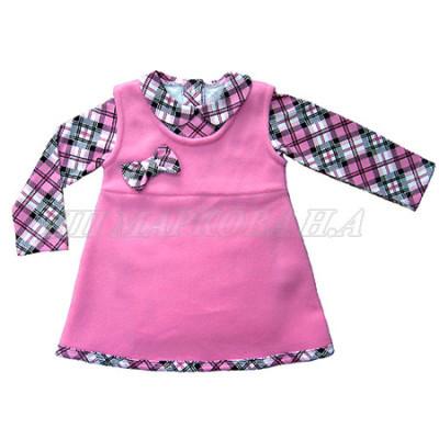 Теплое платьице из флиса для девочки