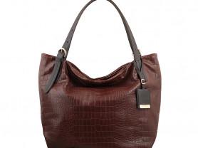Новая кожаная коричневая сумка Gaude Италия