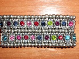 Бижутерия браслет металл с разноцветными камнями
