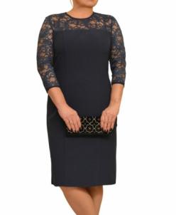 Платье Л266-6 т.синий