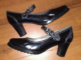 Кожаные туфли, р.37