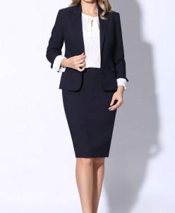 LeNata 31988 (тёмно-синий) костюм юбочный