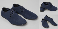 """Обувь мужская 700223-8852-3 Мокасины """"Нубук"""" Темно-Синии"""