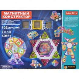Магнитный конструктор 102 детали Leqi-Toys