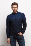 Мужской свитер 17460 синий темный синий