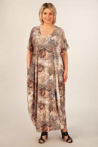 Платье Вероника леопард узоры терракотовые