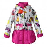 Куртка демисезонная для девочки Пралеска малина (Беларусь)