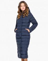 Куртка с капюшоном женская цвет синий модель 925