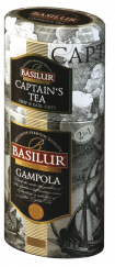Чай черный Basilur 2 в 1 Гампола/Капитанский чай 125гр ж/б