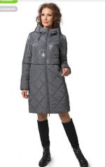 """Пальто """"Камила"""" Артикул: 18418 т серый"""