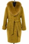 Пальто женское утепленное (пояс) Букле Зеленый