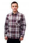 Мужская рубашка шотландка, длинный рукав 1 карман