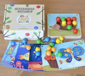 мозаика деревянная мини - 6 карточек