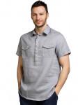 Мужские льняные рубашки БАТАЛ Серый