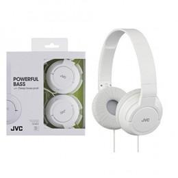 JVC HAS180W The Amazing On-Ear Headphones, White
