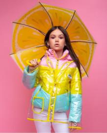 "Демисезонная куртка для девочки+дождевик ""VKD-18"""