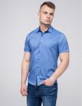 Фабричная рубашка молодежная Semco синяя модель 20433 1627