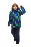 WP82208 BLUE  Комбинезон зимний: куртка и брюки 86-100