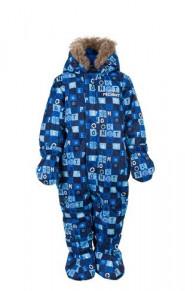 Зимний комбинезон для малышей W17401 BLUE