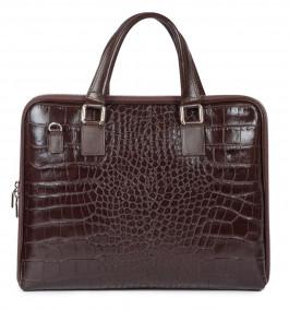 Деловая сумка из телячьей кожи