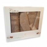 Банный Набор Pupilla Cotton из 3 предметов (Халат+Полотенце