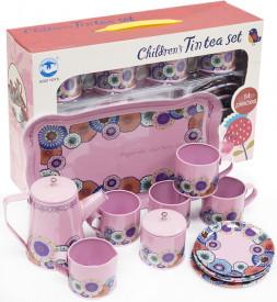 Набор детской посуды 14 пр. металлический