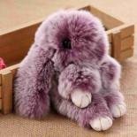 Брелок Зайка Меховой под шиншиллу, фиолетовый (18-20 см)