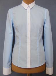 Блуза для девочки Модель 01/1-д ЦветГолубой/белый