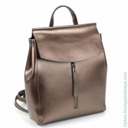 Женский кожаный рюкзак 6023 Ансент Бронза