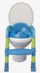 детское сидение на унитаз со ступенькой сине-зеленое