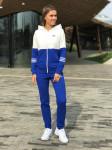Женский костюм 0018 А бело-голубой