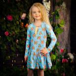 Голубое платье в розах