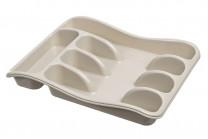 Лоток для столовых приборов 33*26*5 см (латте) (модель 0601/