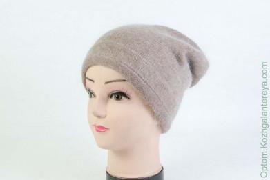 Женская шапка H9509-1A (ангора) Коричневая