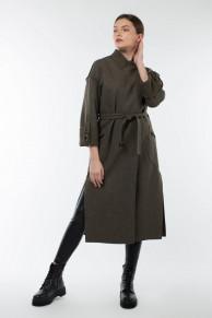 01-9785 Пальто женское демисезонное (пояс)