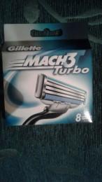 Gillette mac 3 turbo кассеты 8 шт.оригиналы не Китай
