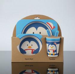 Набор детской посуды 5 предметов Пингвин